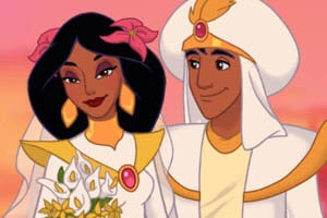 Princess Jasmine and Aladdin getting married