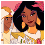 Aladdin and Jasmine getting married