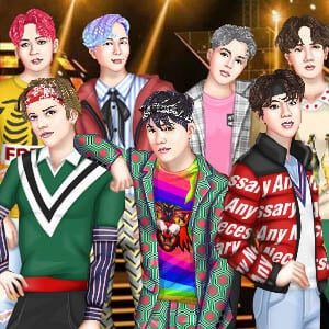 K-Pop BTS dress up game