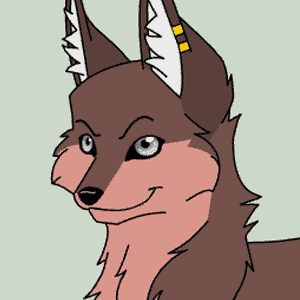 Funky wolf character
