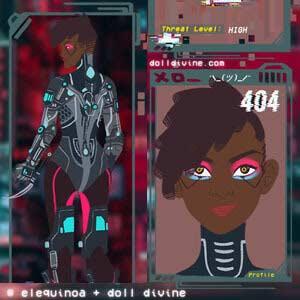Futuristic cyberpunk chick
