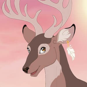 Beautiful lavender deer
