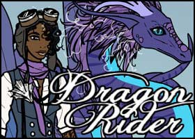 Purple dragon and rider girl