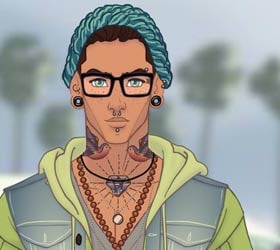 Hipster boy at Coachella