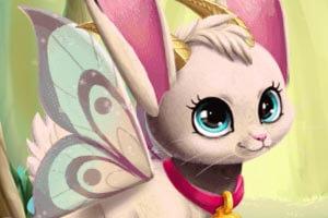 Cute fairy bunny cat