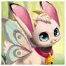Cute fairy bunny cat