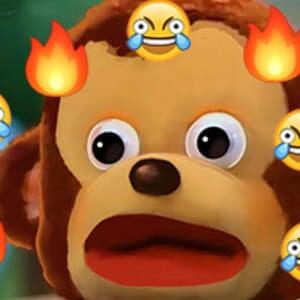Look away monkey meme