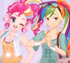 MLP Hipsters Pinkie & Rainbow Dash