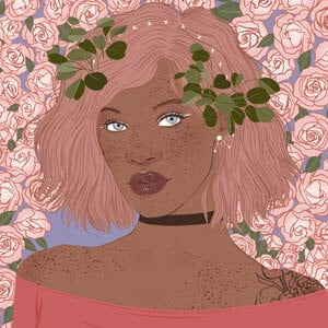 Cute Plant Girl