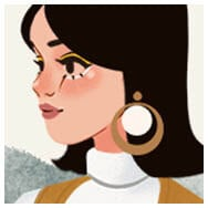 Sixties girl with yellow make up
