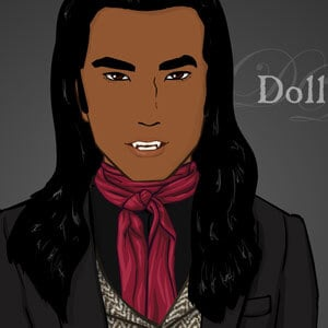 Tall, dark and handsome male vampire