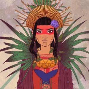 South American Shaman Girl