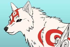 Legendary wolf from Okami