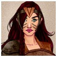 Fierce Amazon Warrior Woman