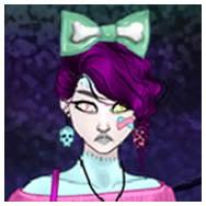 Cute pastel Zombie Girl