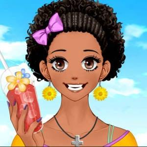 Cute shoujo girl with afro