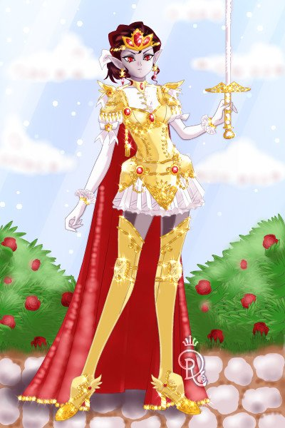 The Golden Knight ~ Grand and regal, the lady Pentaghast. I