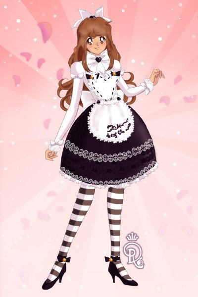 Old School Lolita ~ Some OG Lolita with that heart apron req