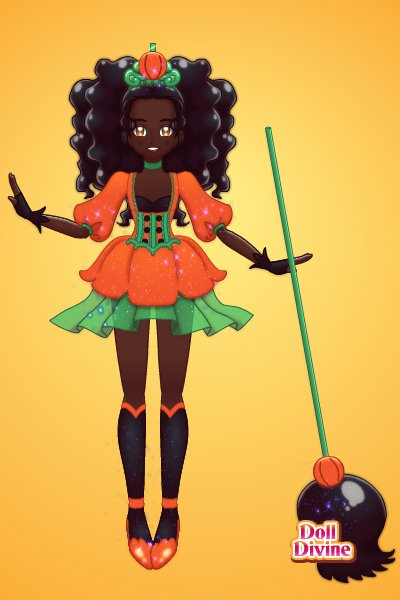 Magical girl of Halloween ~ i love this design so much that im gonna
