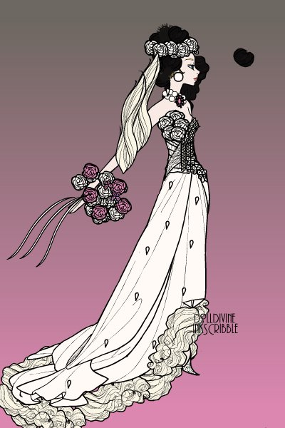 A Southern Belle Wedding Gown For Ubeta\'s Contest ~ by Peggy901