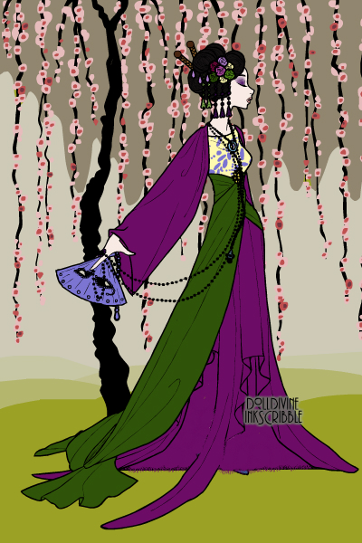 Purple floral geisha ~