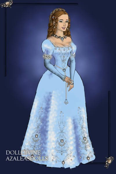Blue ballgown V2 ~ I just saw one of the sleeves of the las