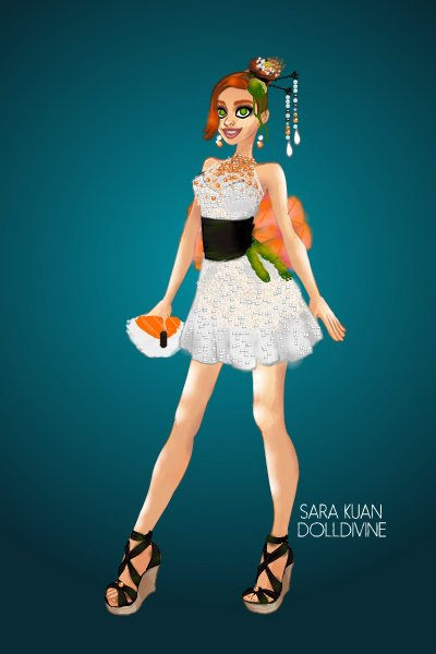 DDNTM Urban Chic: Jessica Brown- Yummy! ~ Here's Jessica in a sushi dress!  For th