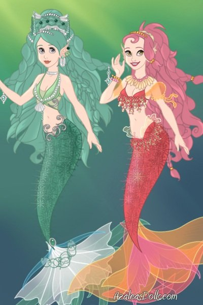 Mermaid adoptables 11 and 12 (Adopted) ~ It's time for more of these! The minty