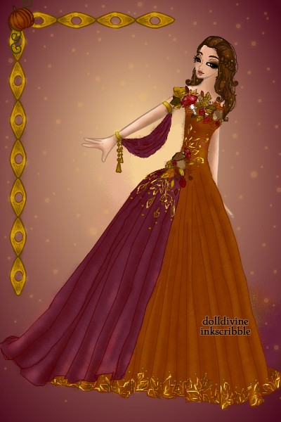 Autum gown ~ Something autumn themed. I worked on thi
