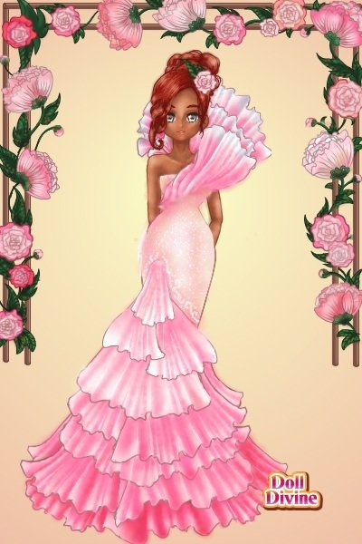 DDNTM Glitter Cure: Rosa Sabaro~Flowers! ~ A little late but here's my entery for t