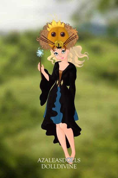 Luna Lovegood wearing her lion hat ~