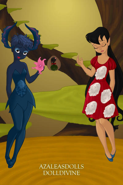 Lilo and stich with Lilo\'s mothers hula ~