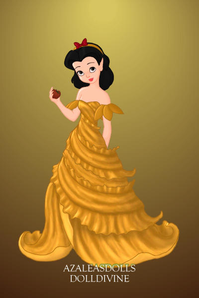 Snow White in Belle\'s dress ~