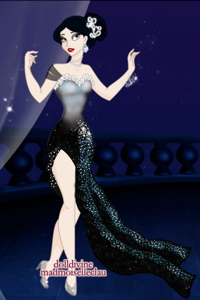 Blue Midnight ~ Her dress has shards of moonstone on it,