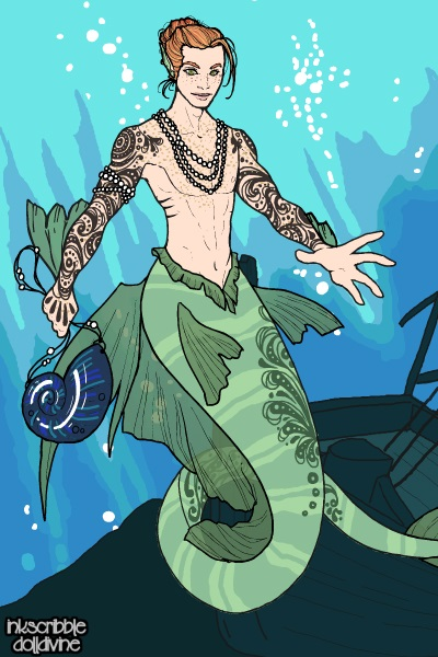 Grayson ~ This is my s/o, Grayson, as a merperson.