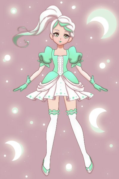 Moons ~ ~Background & dots on dress are modded~