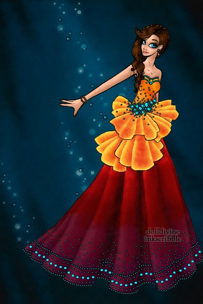 Coral Hind Couture ~ <p>For nightingale's Aquatic contest.</b