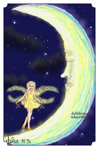 The Secret of the Dreaming Moon. ~ #Fantasy #HiddenDoll #Moon #Fairy #Glow