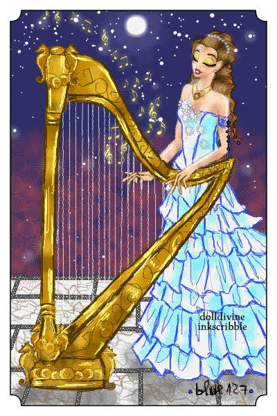 The sound of the harp at night ~ Gift for @dremieangel.