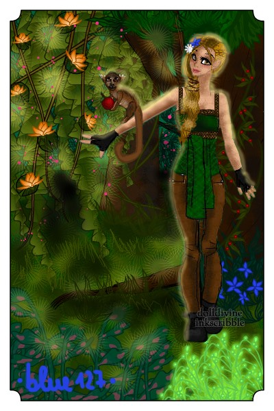 Symelia of Ytria ~ And her favorite animal; a Squirrel Monk