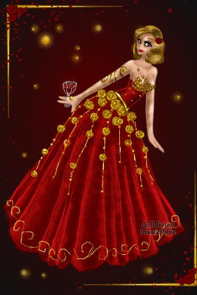 Roses of Red and Gold ~ #HighFashion #RedIsRad #Gold