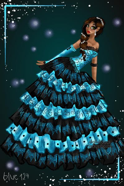 Fairytale Couture ~ #HighFashion  #SoBlue! #Lace