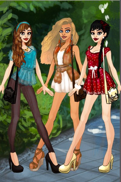Lady, Nala and Minnie ~ Disney High Style. Once again. lol