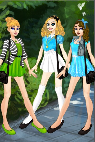 Tink, Alice and Wendy ~ #Disney #DisneyHigh #BluesDisneyHighDoll