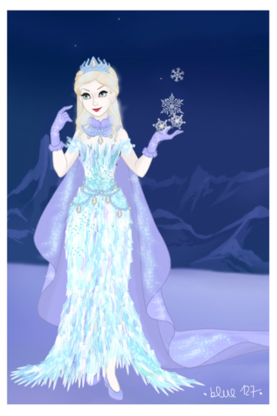 The Snow Queen. (Adopted by TechnoTekkit ~ It's not exactly Elsa. I made her insp