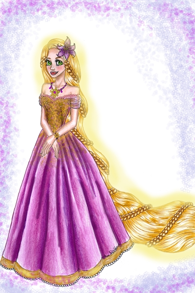 Prom(!) Rapunzel ~ Just another drawing of mine.