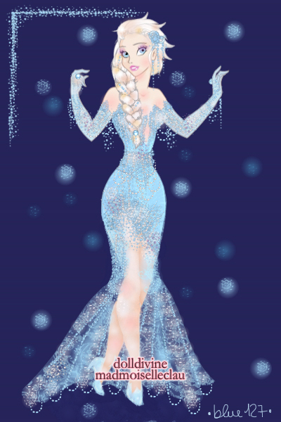 A gown as cold as an icy storm ~ Some high fashion Elsa thingy. Idk.#Froz