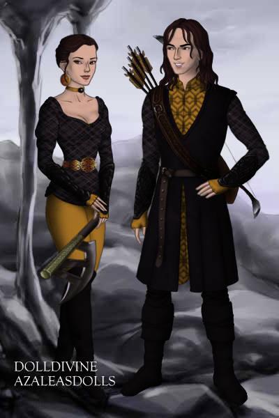 Asha and Theon Greyjoy ~ by Asteria
