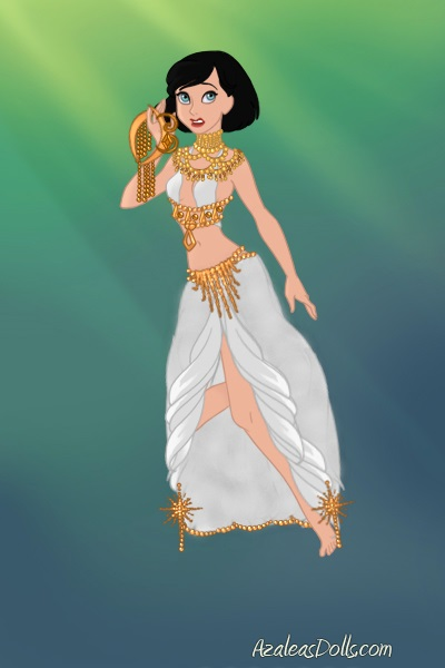 Dinah in Hinsparian dress ~ Was originally for the clothing swap con