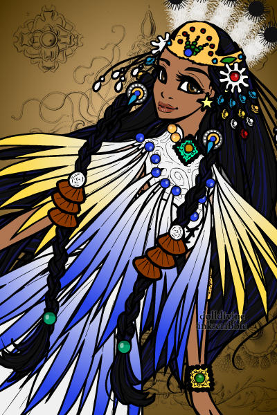 Native American lady - for ubeta\'s Post ~ Inspiration for this assignmemt were the